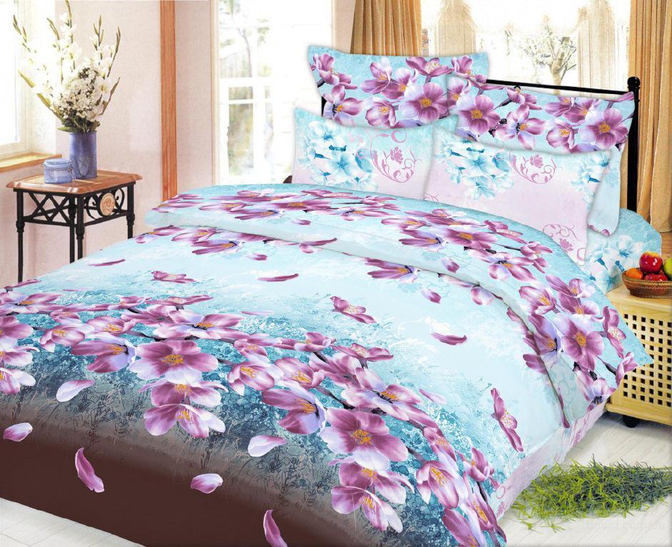 Постельное белье недорого, Комплект Цвет вишни (поплин)