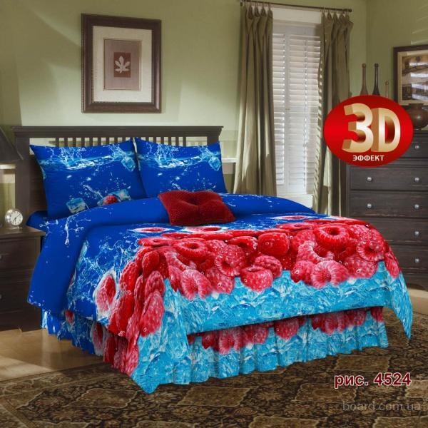 Купить постельное белье недорого, Комплект Малина 3D