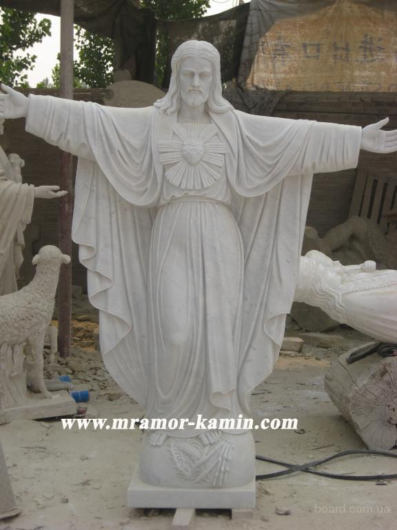 Ангелочки из мрамора, скульптура из мрамора, памятники мраморные