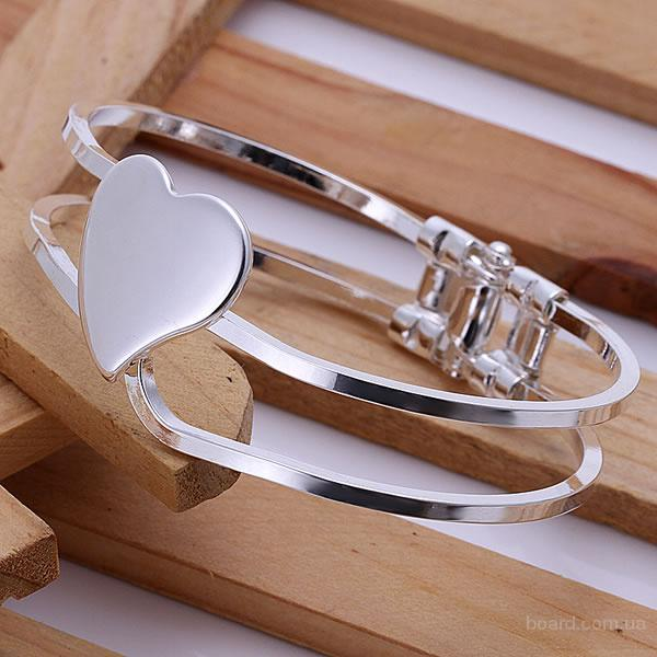 Браслет Сердце из стерлингового серебра