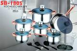 Набор посуды 18 предметов Swiss&Boch SB-1805
