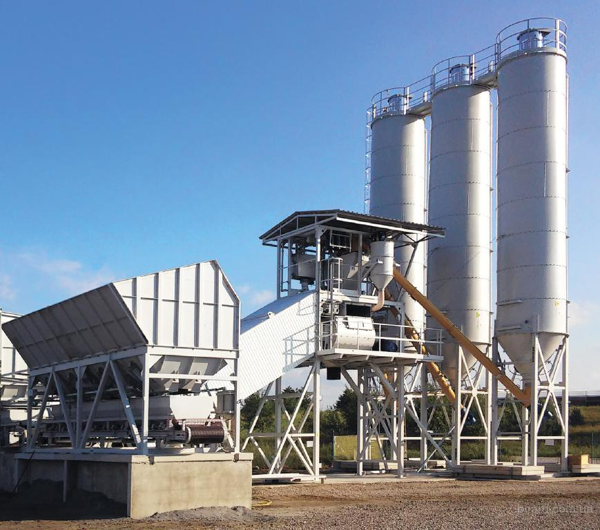 Быстромонтируемый бетонный завод Bazalt-100 производительность 100 м³/ч