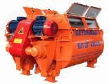Двухвальный принудительный бетоносмеситель БП-2Г-4500 объем 4500 л