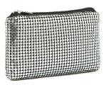 Клатч-кошелёк из металлической сетки серебристого цвета