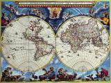 Антикварные карты мира
