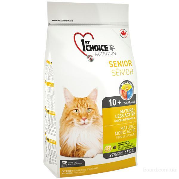 Корм для кошек 1st Choice (Фест Чойс) сухой супер премиум корм для пожилых или малоактивных котов