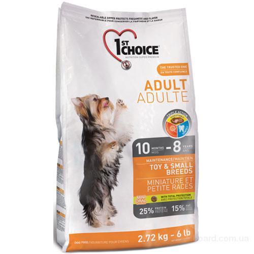 Корм для собак 1st Choice (Фест Чойс) с курицей - сухой супер премиум корм для взрослых собак мини и малых пород