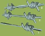 Проволока стальна колючая , оцинкованая