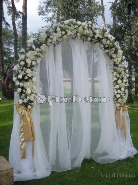 Оформлення весілля, квіткові прикраси,весыльны арки з квітів