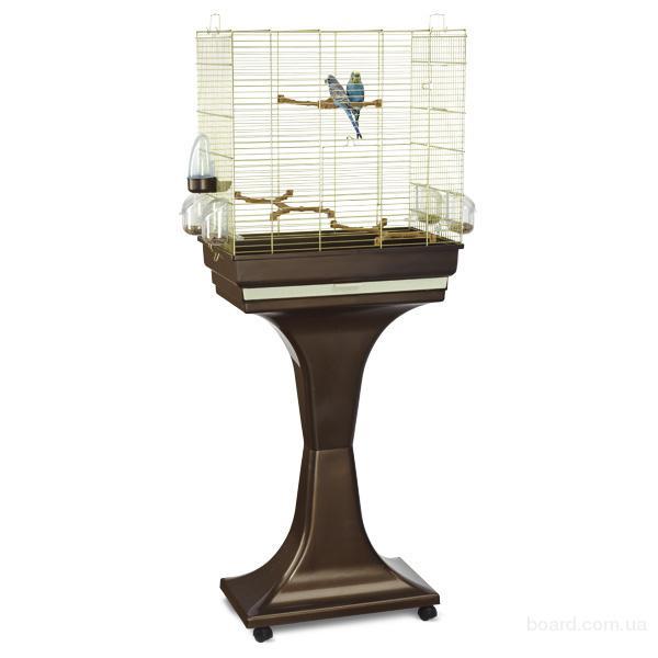 Клетка для попугая Imac Камилла (Camilla) клетка с подставкой для попугайчиков, пластик, латунь
