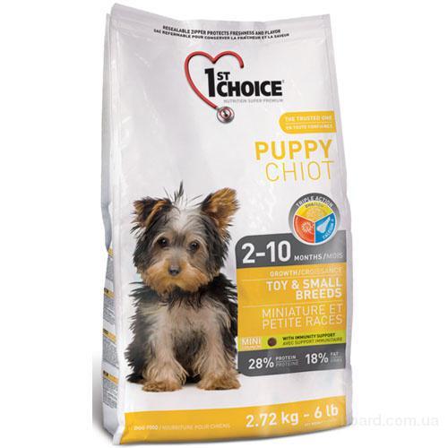 Корм для щенков 1st Choice (Фест Чойс) с курицей сухой супер премиум корм для щенков мини и малых пород