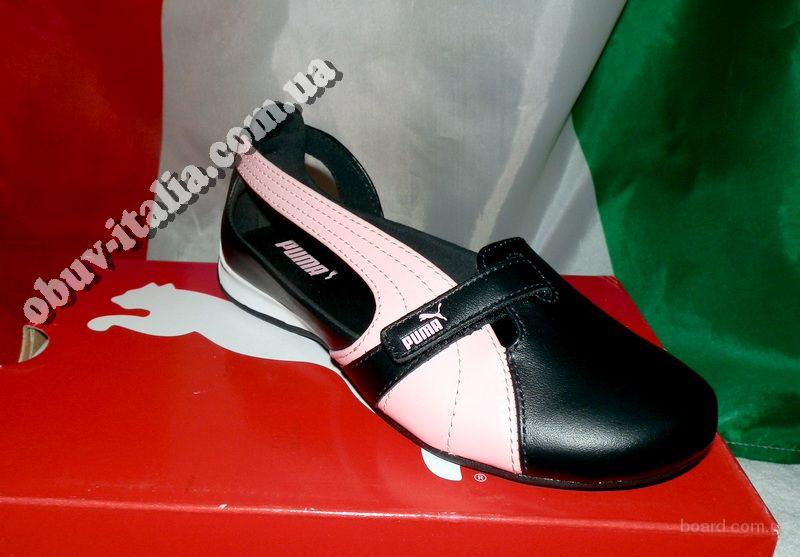 Босоножки-балетки детские кожаные Puma оригинал из Италии