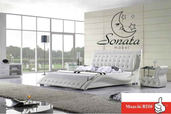 """Белая кожаная кровать """"Sonata Mobel"""" по специальной цене - 19.999 грн"""