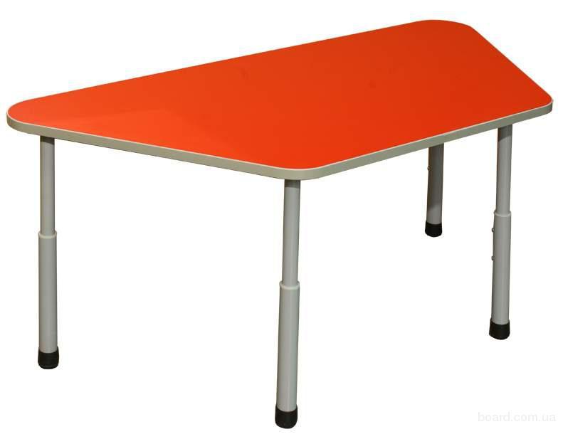 Стол детский трапециевидный регулируемый, Мебель для детского сада, Стол регулируемый детский