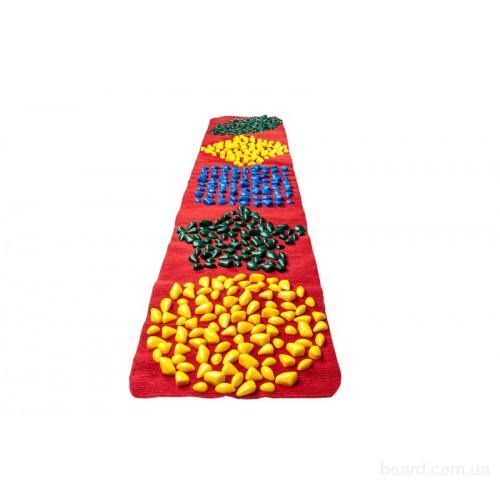 Массажный коврик ортопедический с цветными камнями детский развивающий 200 х 40 см