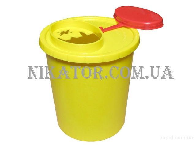 Одноразовый контейнер для сбора и дальнейшей утилизации использованных игл