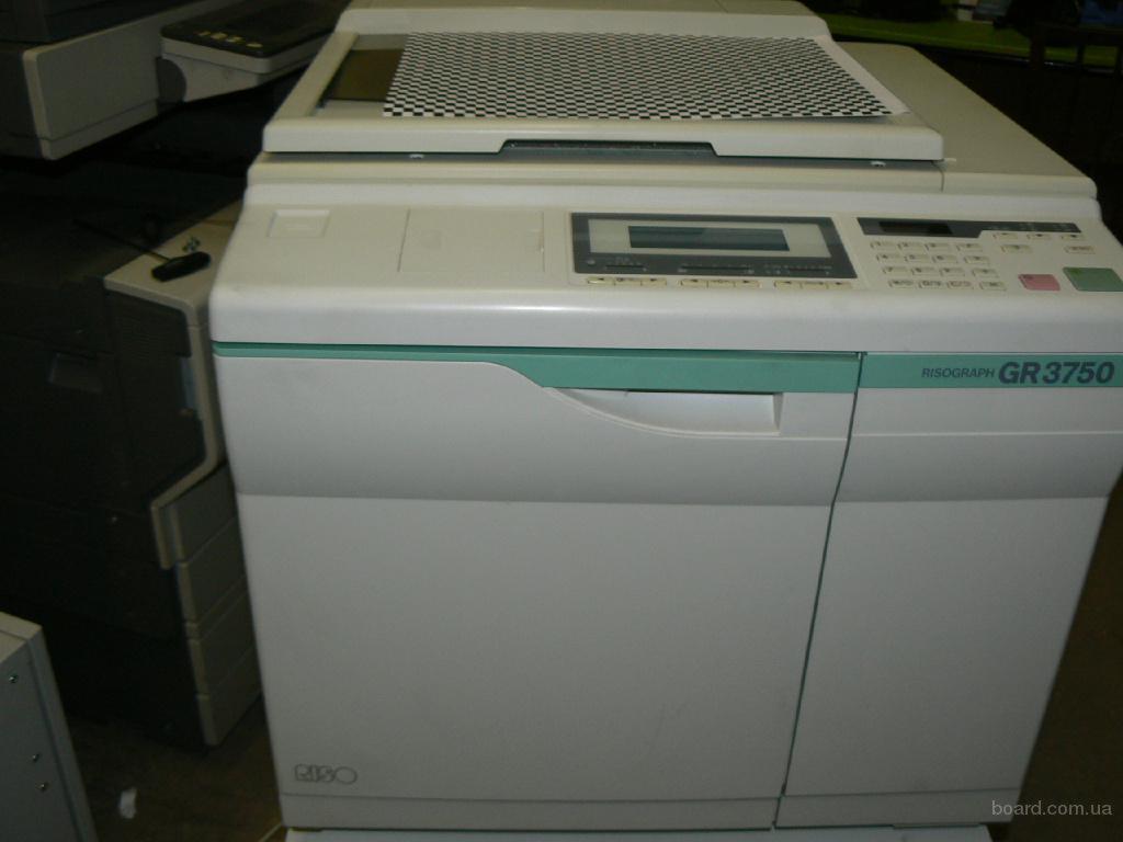 Продам ризограф gr3750. Опционально с интерфейсом sc3000