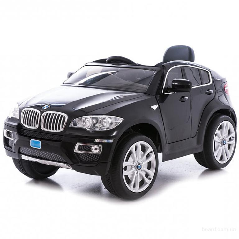 Супер! Детский электромобиль BMW X6 JJ 258 -7км/ч, 2 мотора, Черный