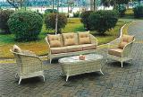 Комплект диван и два кресла искусственный ротанг, мебель для сада, мебель для кафе и ресторанов.