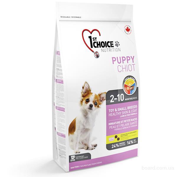 Корм для собак 1st Choice (Фест Чойс) корм для щенков мини пород с ягненком и рыбой