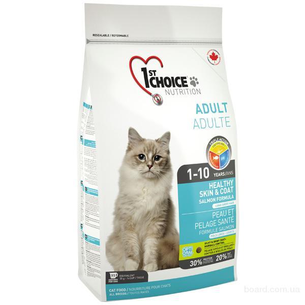 Корм для кошек 1st Choice Лосось хелзи Healthy Skin & Coat (Salmon Indoor) для кошек с длинной шерстью
