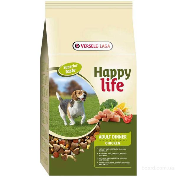 Корм для собак Happy Life корм для собак с курицей (Adult Dinner Chicken)