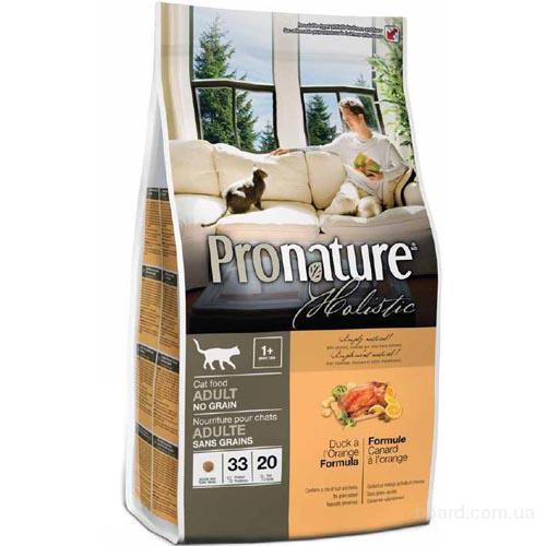 Корм для кошек Pronature Holistic Adult no grain (Пронатюр Холистик) с уткой и апельсинами Без Злаков