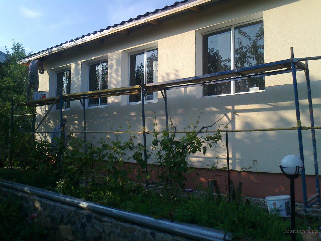 Утепление фасадов зданий минеральной (базальтовой) ватой. Декоративные штукатурки (барашек, короед, мозаика). Покраска.