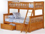 Двухъярусная кровать Жасмин + матрасы