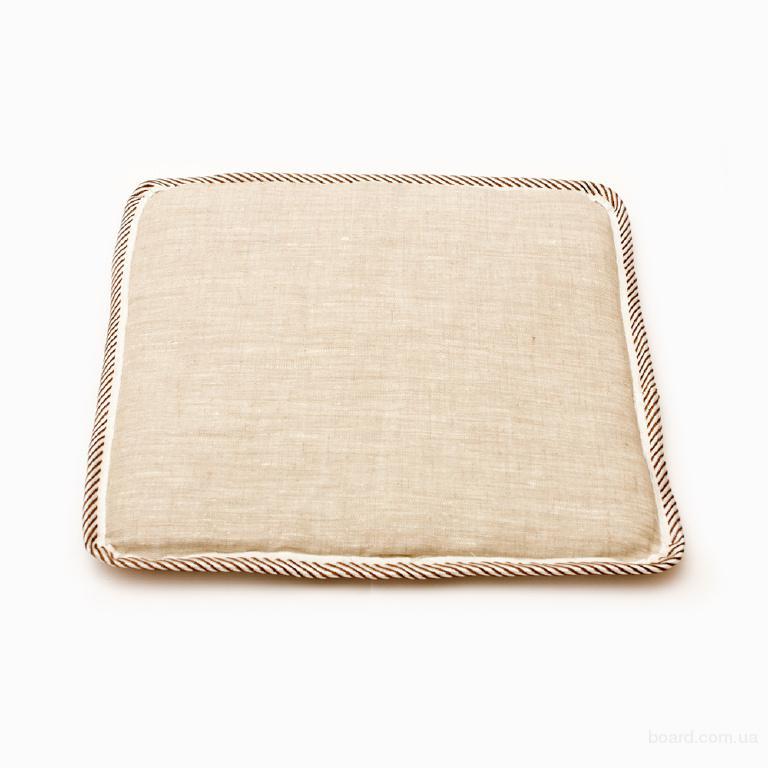 льняная плоская подушка