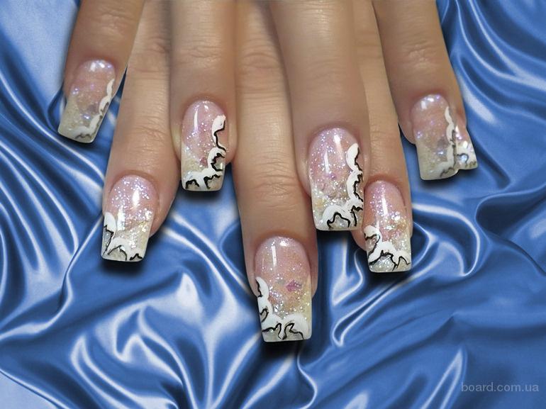 Аквариумный дизайн на своих ногтях