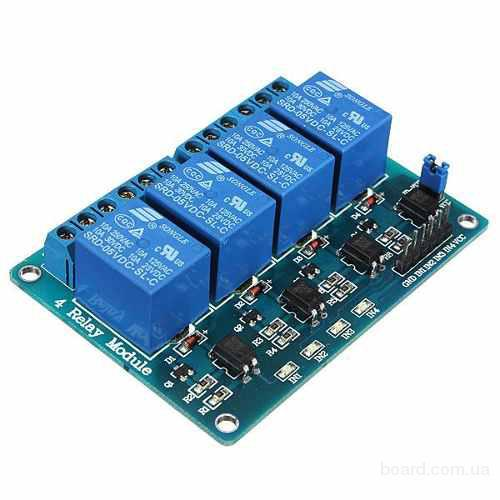 4-х канальный модуль реле для Arduino