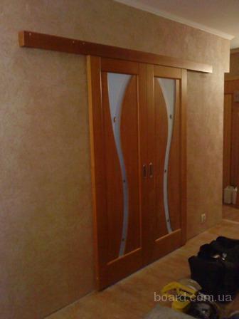 Установка межкомнатной двери купе своими руками