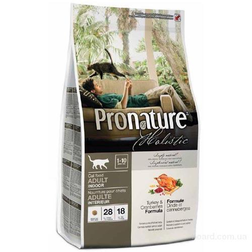 Корм для кошек Pronature Holistic (Пронатюр Холистик) с индейкой и клюквой