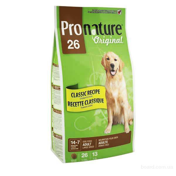Корм для собак Pronature Original (Пронатюр Ориджинал) для взрослых собак крупных пород