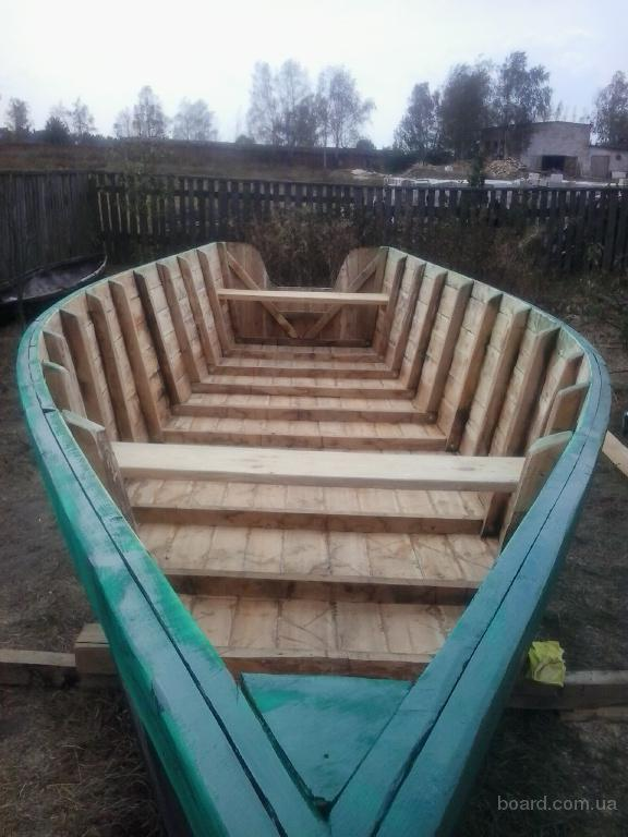 купить деревянную лодку баркас в украине