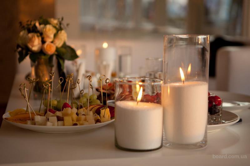 Насыпные интерьерные свечи, пальмовый воск