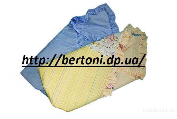 Конверт для новорожденных цветной с рюшами
