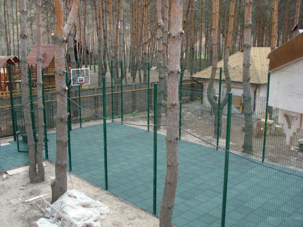 Детская площадка с резиновым покрытием под ключ