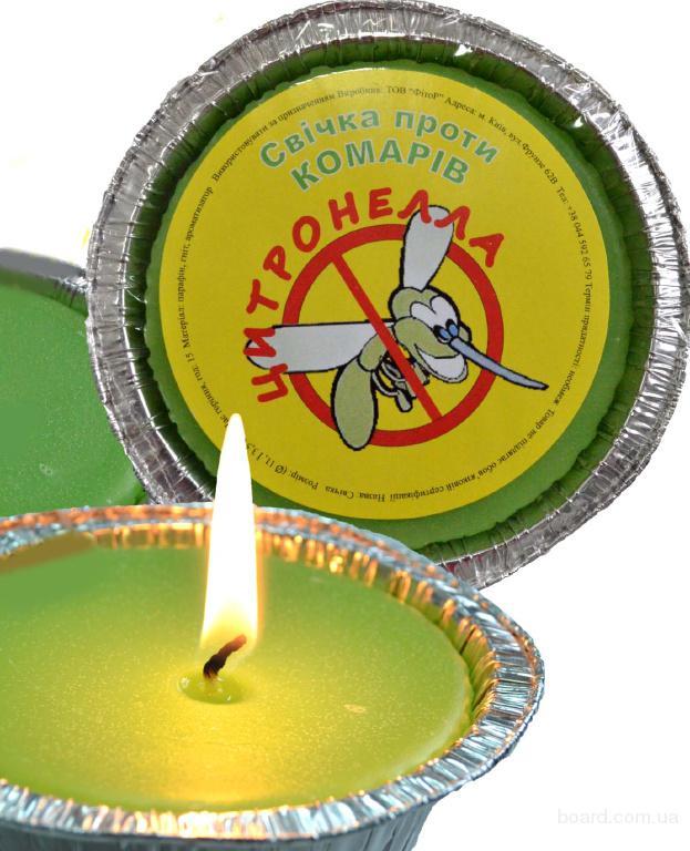 """Свечка ароматизованная """"Цитронелла"""" от комаров"""