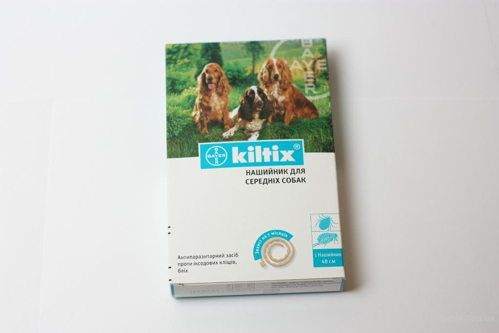 Kiltrix (Килтикс) - ошейник от блох и клещей для собак, 48 см.Bayer
