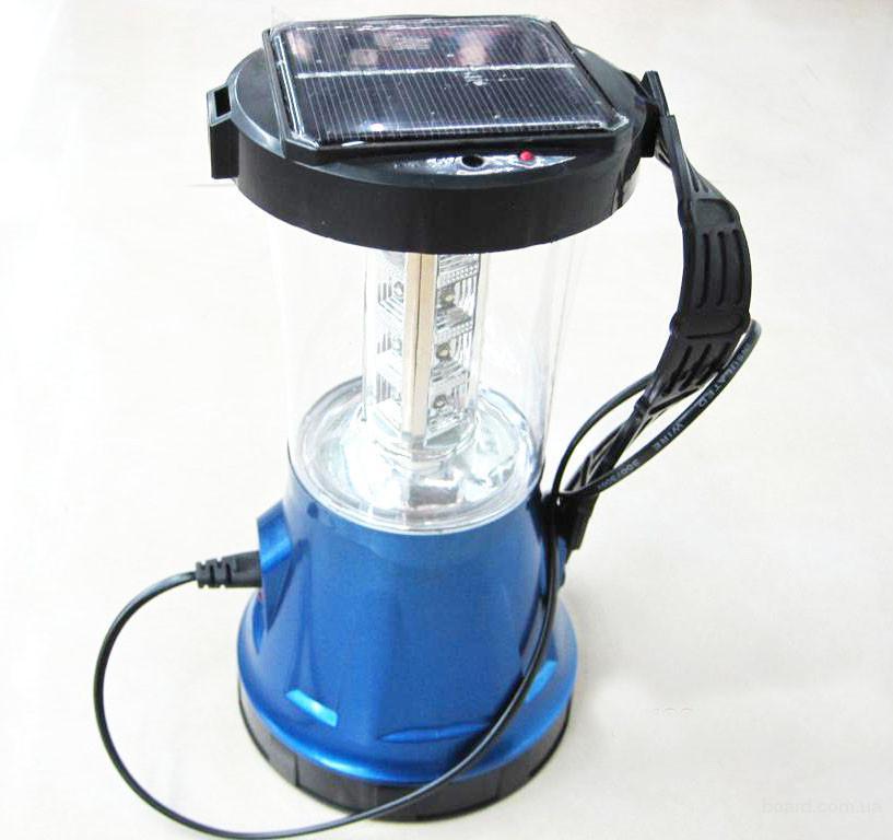 Ліхтар кемпінговий на сонячній батареї J