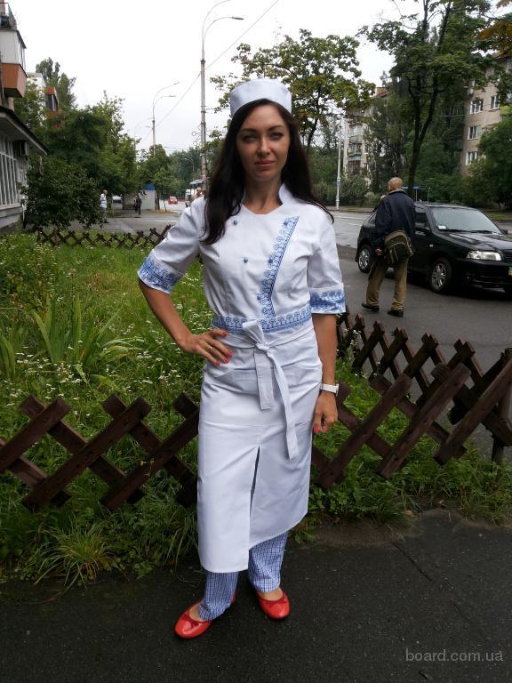 Патриотичный украинский поварской костюм