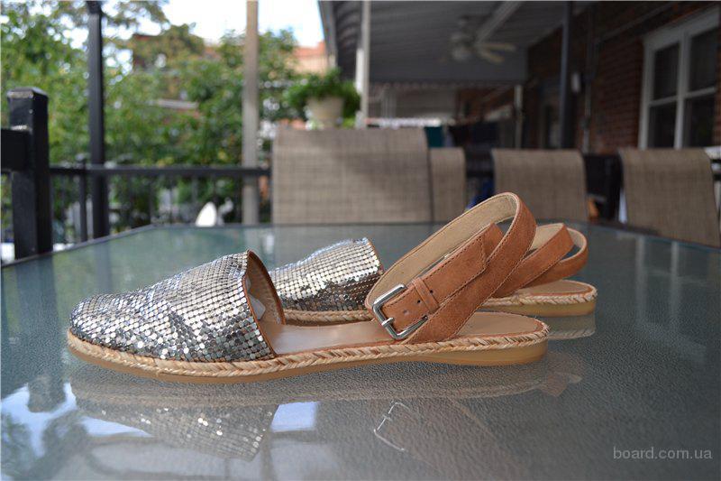 Босоножки Stuart Weitzman Armor Silver Slide Sandals, оригинал