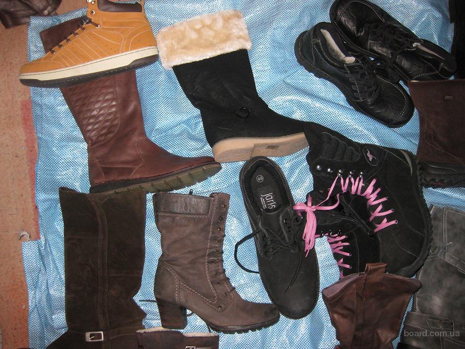 Отличный микс новой обуви. Зима. Женская, мужская, детская.Много кожи.По 14 евро/кг.