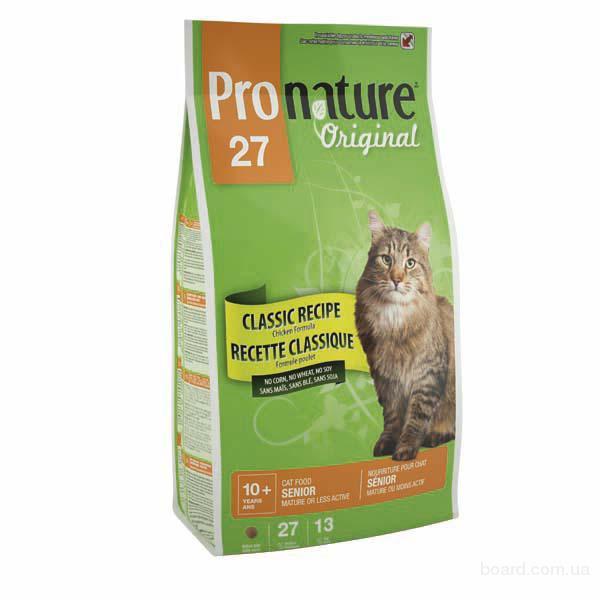 Корм для кошек Pronature Original сеньйор - корм для пожилых и малоактивных котов с курицей