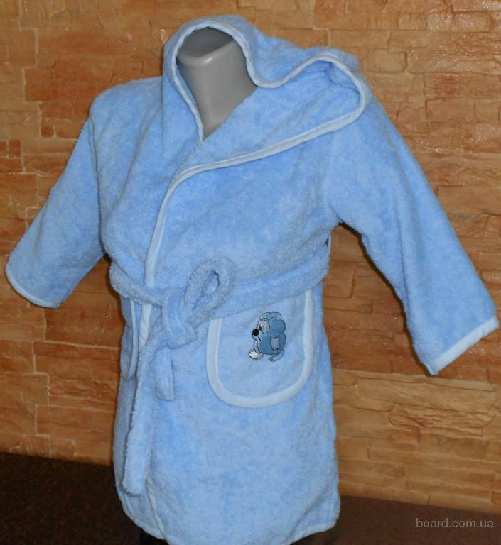 Махровый халат 3-4 годика