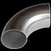 Відведення нержавіюча сталь  зі швом DIN 11850