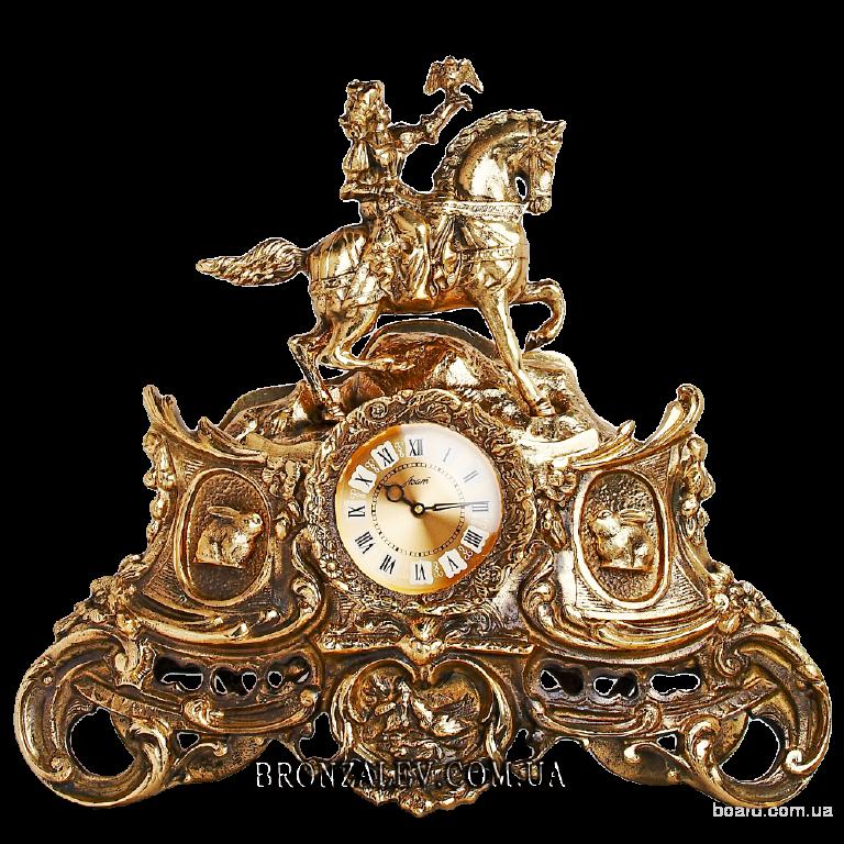 Часы каминные из бронзы — «Амазонка»