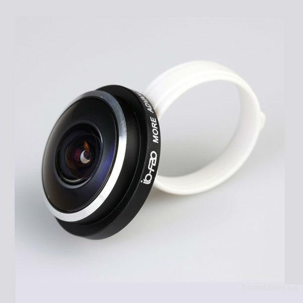 Fisheye (фишай) 235 [ клипса ] , универсальный мобильный объектив.